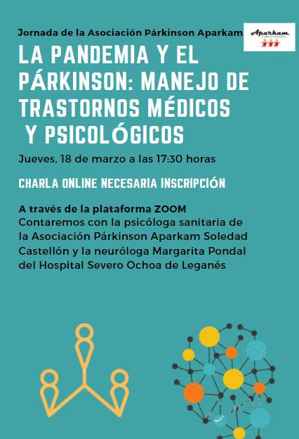 Jornada online: «La pandemia y el párkinson, manejo de  trastornos médicos y psicológicos»