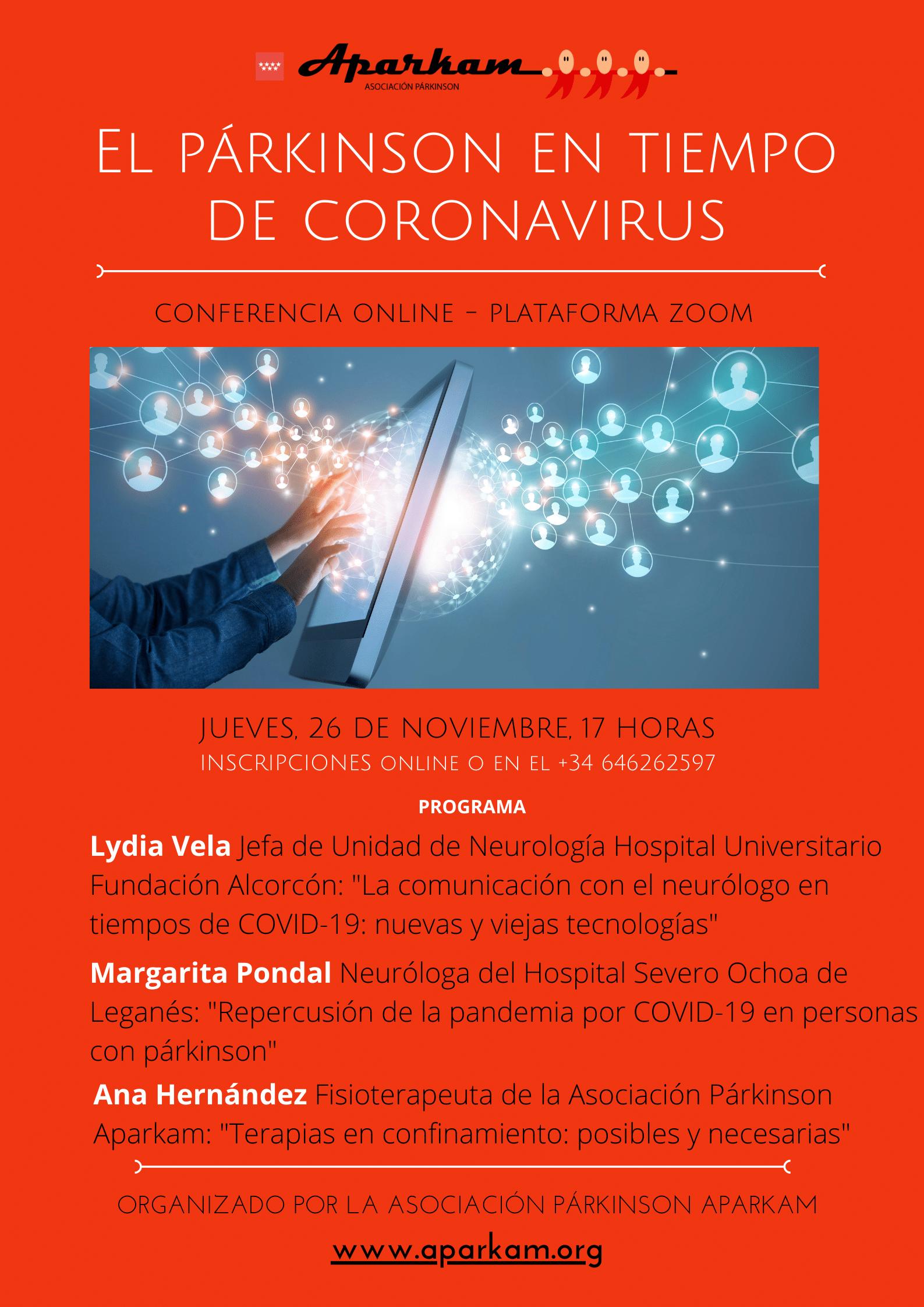 Congreso online «El párkinson en tiempos de coronarivus»