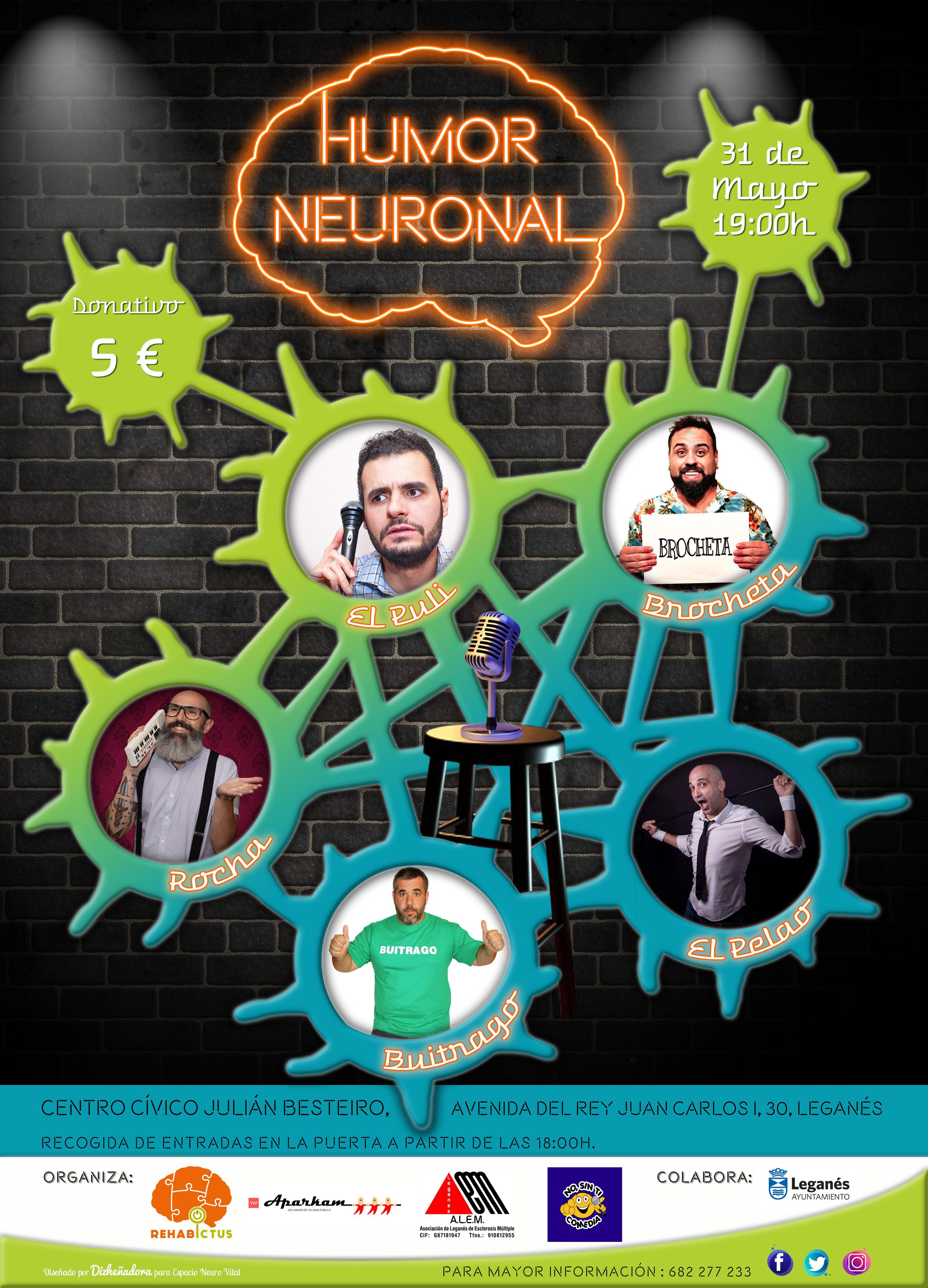 'Humor neuronal', una gala solidaria que une a tres Asociaciones de Leganés