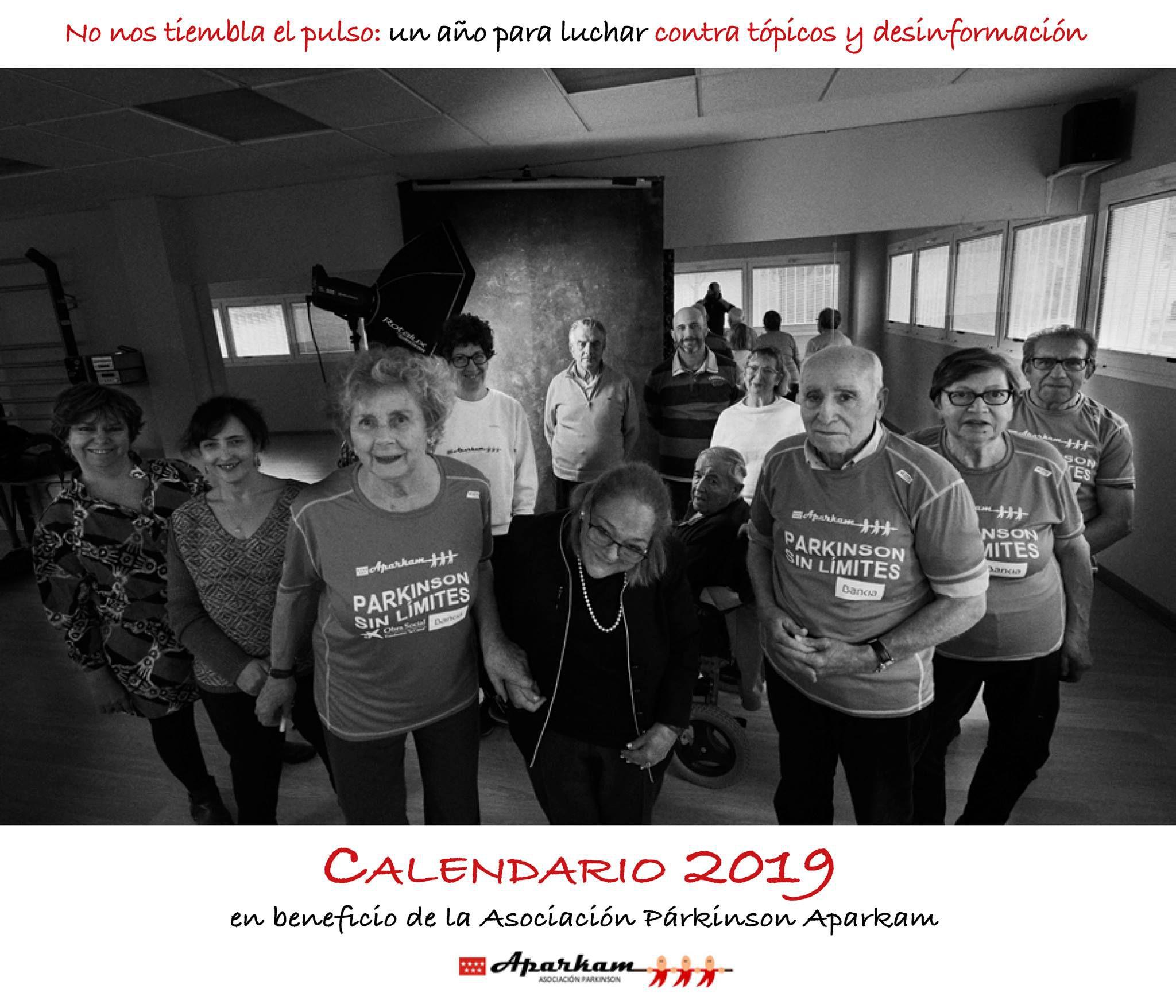 Un calendario solidario para divulgar los síntomas del párkinson durante 2019